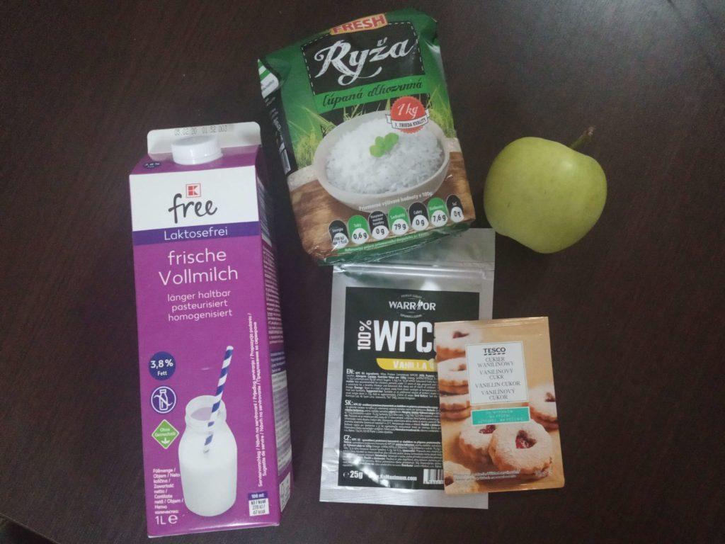 Proteínová mliečna ryža - ingrediencie