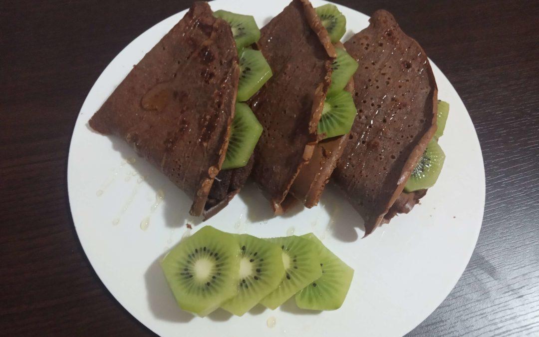 Čokoládové proteínové palacinky bez múky