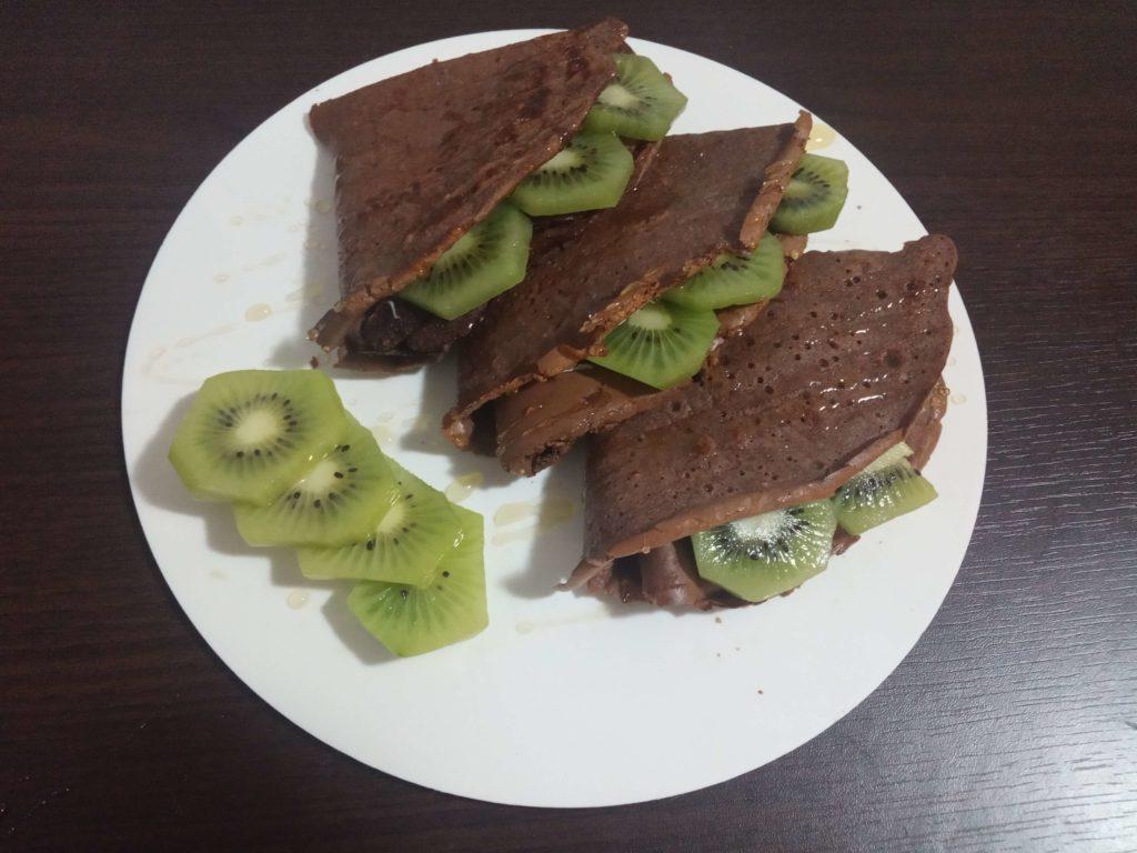 Proteínové palacinky s kiwi