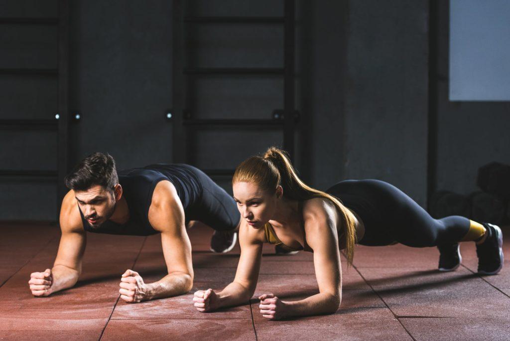 Plank vo dvojici