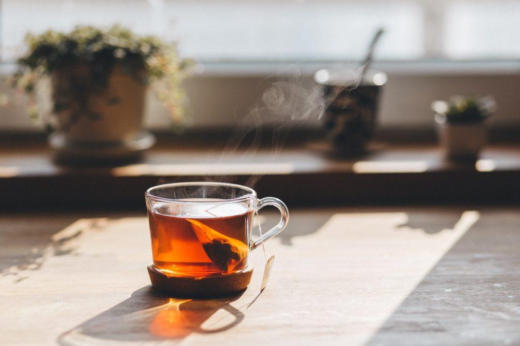 Zelený čaj - šálka a vrecúško