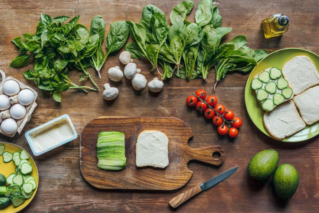 Zelenina, vajcia a šampióny