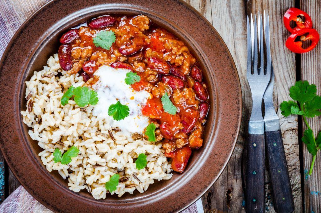 Ryža s mäsom a fazuľkami