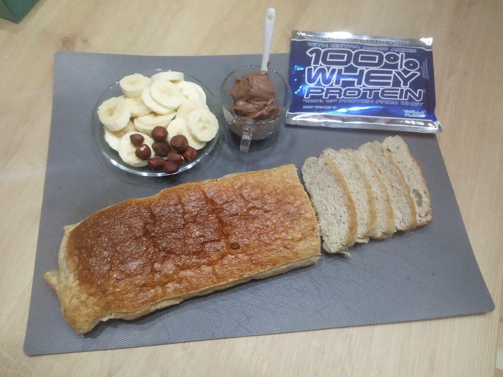 Vanilkový proteínový chlebík