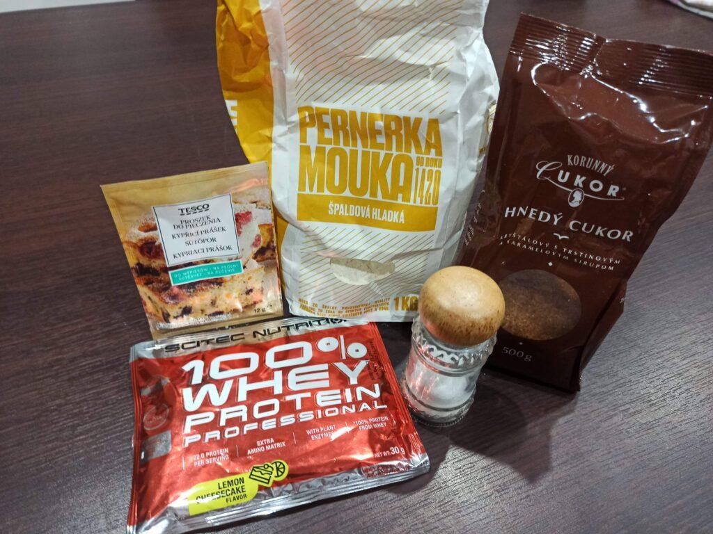 Suroviny na proteínové muffiny