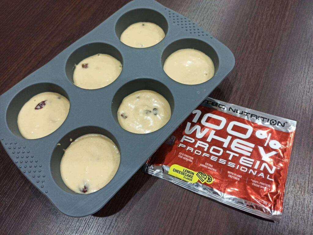 príprava proteínových muffinov